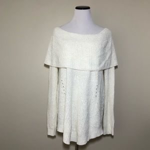Anthropologie Lucerne Off the Shoulder Sweater